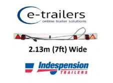 LED 7ft (2.13m) wide Trailer Light Board 9m cable 7 pin plug Tractor Boat Lorry